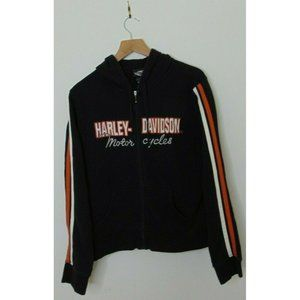 Harley Davidson XL Black Hoodie Sweatshirt Black